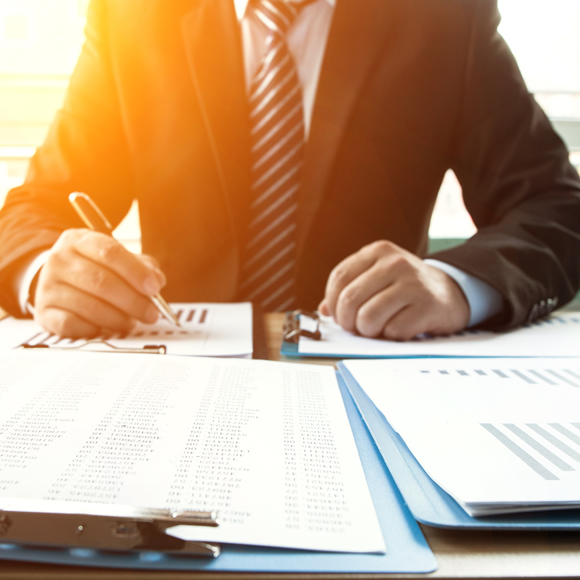 A risk management assessment being reviewed - Boyd Insurance